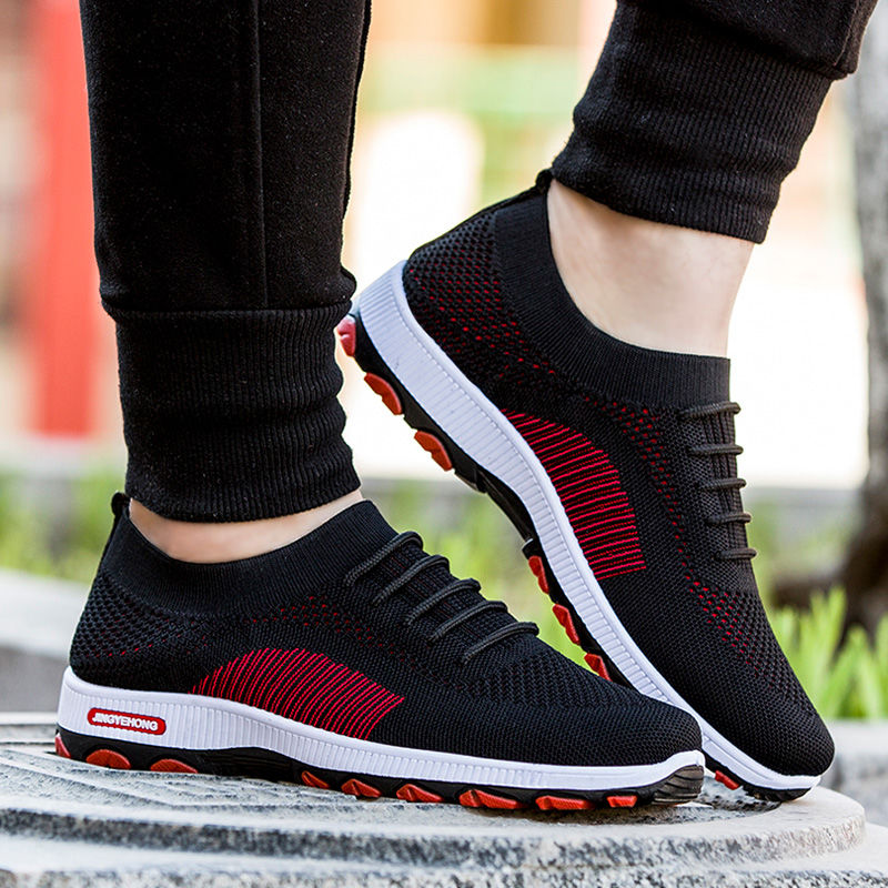 Fashion Outdoor Mens Color Sneakers High Quality Brand Bandage Breathable Shoes Mesh Soft Letters Tennis Mens Shoes