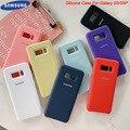 Оригинальный жидкий силиконовый чехол, мягкий на ощупь, шелковистый защитный чехол для Samsung Galaxy S8/S8 Plus