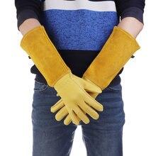Перчатки для обрезки роз кактуса кожаные перчатки с длинным