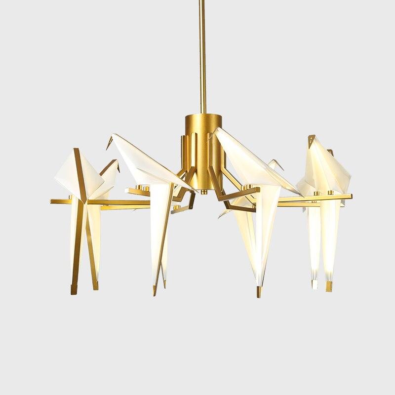 LED Modern Gold White Iron Acryl Love Bird Designer Suspension Luminaire Pendant Lights.Pendant Lamp.Pendant light For Foyer