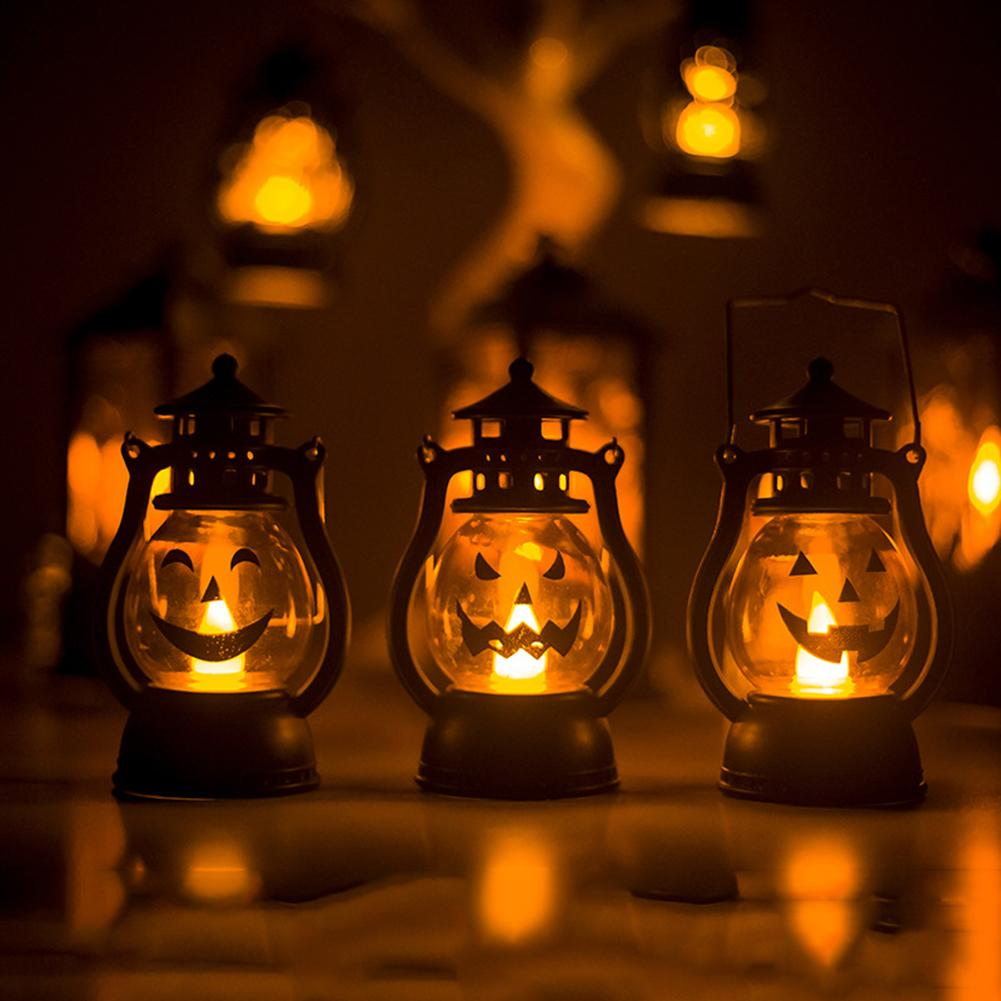 Hot Sale Trick Or Treat Halloween Pumpkin Lamp LED Night Light Handled Party Props Decor Halloween Party, Bar, Home Decoration