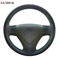 Black Artificial Leather DIY Car Steering Wheel Cover for Hyundai Getz (Facelift) 2005 2011 Kia Rio Rio5 Accent 2006 2011|Steering Covers|   -