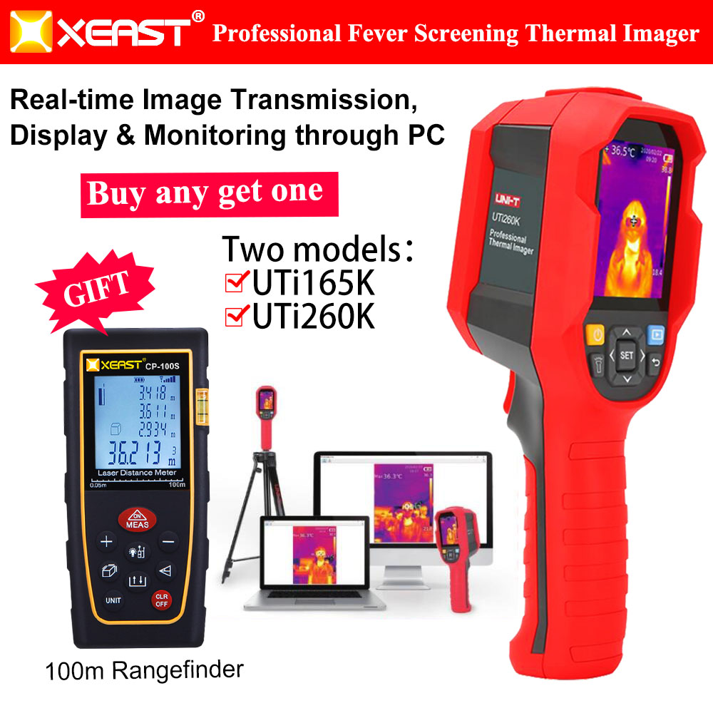 XEAST new infrared temperature measurement high precision handheld thermal imager captures large area real-time transmission and