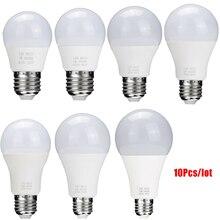 10pcs/Lot E27 LED Light Bulb 18W 15W 12W 9W 7W 5W 85-265V LED Lamp Indoor Lighting For Home Smart Bulbs Chandeliers Spotlight