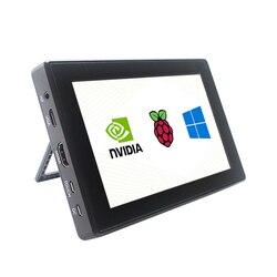 التوت بي 4 نموذج B/ 3B +/ 3B 7 بوصة 1024x600 IPS بالسعة شاشة تعمل باللمس مع حامل علبة OSD القائمة ويندوز جيتسون نانو