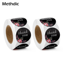 Methdic 500pcs/roll Thank You Cards Thank You Stickers Roll for Wedding thank you label stickers label print bar thank you