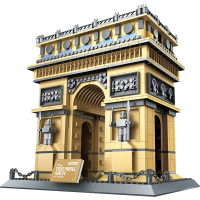 Gold Architecture Toys PARIS Arc de Triomphe Architectures Buliding Blocks Educational Structure Bricks Toy For Children