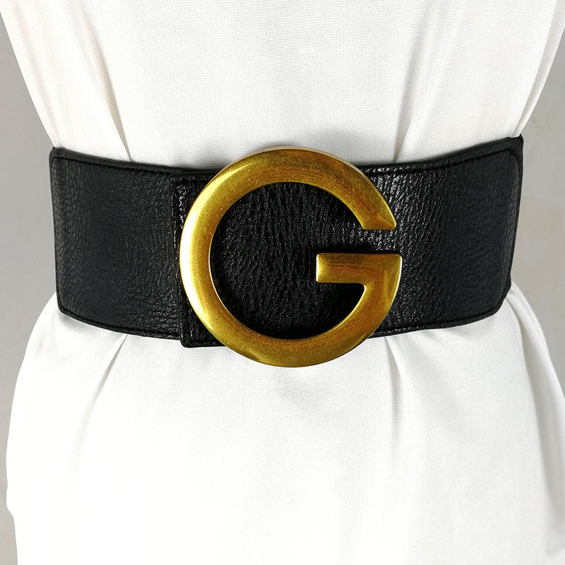 Designer belts for women high quality corset belt luxury brand wide cinturon mujer elastic cummerbunds big ceinture femme