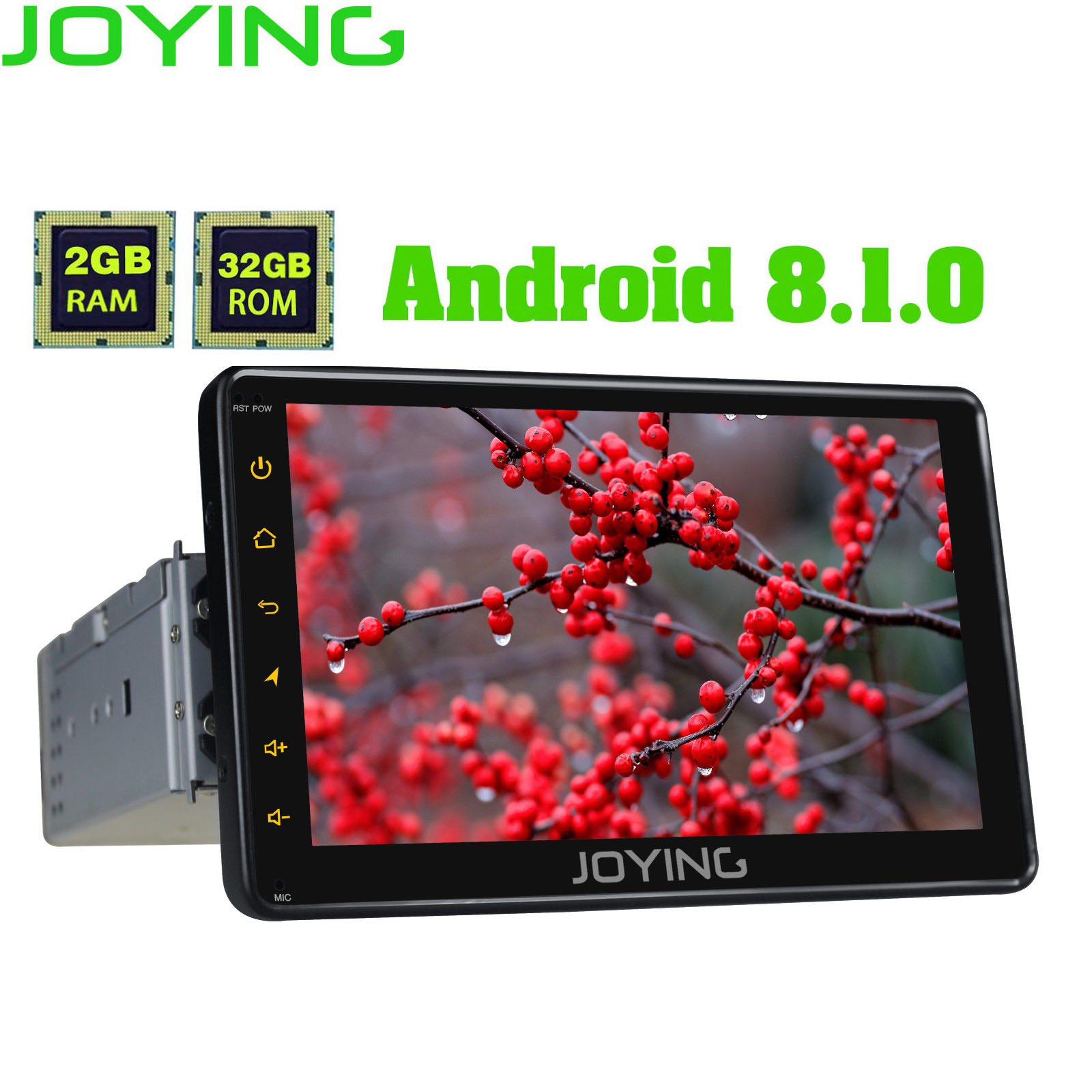 JOYING Android 8 1Octa Core 7inch car radio player support 4G DSP 2GB 32GB SWC Mirror