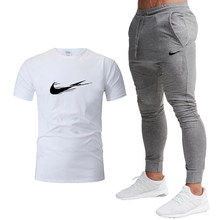 2021 new summer sports T-shirt casual pants set 2-piece men's Casual Short SleeveT-shirt +There are many colors to choose from