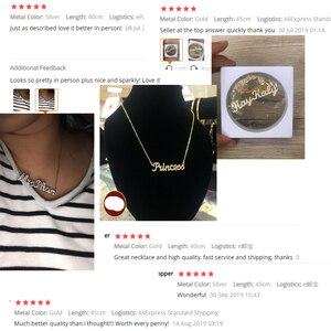 Image 5 - Qitian Qualsiasi Nome Collana di Pietra Catena Ghiacciato Fuori Zirconia Collane Personalizzato su misura Collana Dei Monili di Modo di Nuovo Arrivo 2019