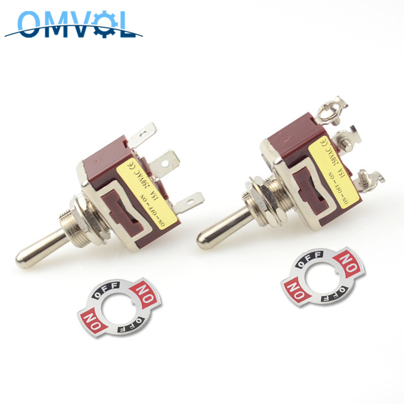 12mm 3position momentary toggle switch (ON) OFF (ON) spring return latching ON-OFF-ON waterproof cover
