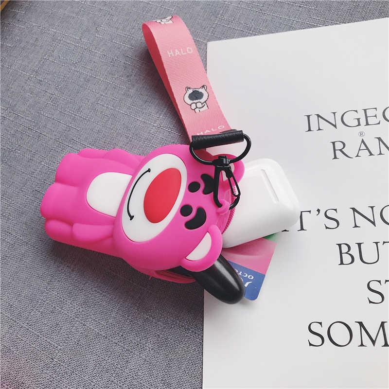 Gran oferta de cartera para mujer con bonitos dibujos animados de monedero oso princesa niña llavero billetera audífonos para niños caja transparente monedero niños Carteira