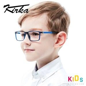 Image 1 - Kirka Kinder Brillen TR 90 Kinder Optische Gläser Rahmen Flexible Brille Rahmen für Kinder Spektakel Rahmen TR90 Unisex Solide
