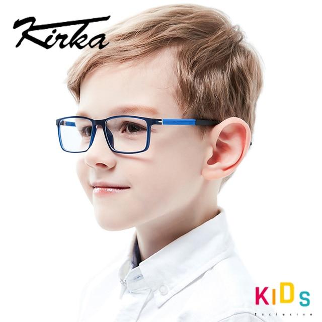 Kirka Kinderen Brillen Tr 90 Kids Optische Brilmontuur Flexibele Brilmonturen Voor Kids Brilmonturen TR90 Unisex Solid