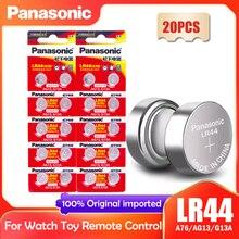 Часовая батарейка Panasonic LR44 LR 44 A76 AG13 1,5 V, 20 шт., Кнопочная батарейка G13A LR44 LR1154 SR1154 357A SR44 SR44SW SR44W GP76