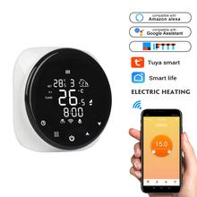 Tuya inteligentne Wifi termostat regulator temperatury do wody elektryczne ogrzewanie podłogowe kocioł gazowy wody współpracuje z Alexa Google Home tanie tanio CN (pochodzenie) Rohs wifi thermostat