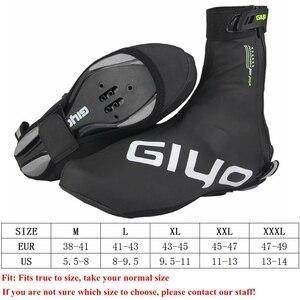 Image 5 - Housse de protection imperméable, en laine polaire, coupe vent, réfléchissante, pour le cyclisme sur route, chaussure de protection