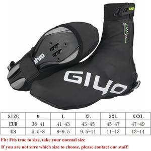 Image 5 - Protetor de sapatos para ciclismo à prova de vento, capas quentes de lã para sapatos de ciclismo com trava refletiva para inverno e estrada