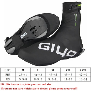 Image 5 - Waterproof Windproof Fleece Warm Cycling Lock Shoe Covers Reflective Bicycle Overshoes Winter Road Bike Shoes Cover Protector