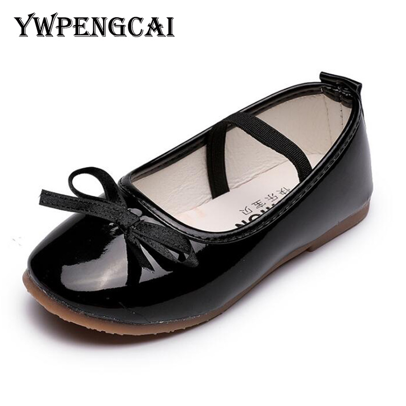YWPENGCAI 2020 Spring Summer Children Dancing Shoes Girls Flats Bow Knot Toddler Girl Shoes #21-36 Soft Breathable Girls Shoes