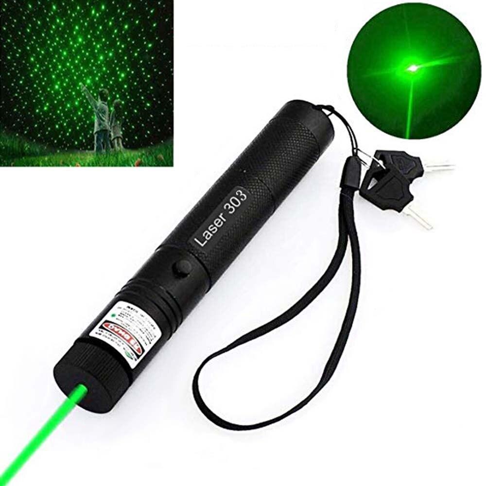 532nm Green Laser Pointer Pen High Powerful Outdoor Flashlight Professional Travel Indicator Hunting Laser Device 303 Beam Light