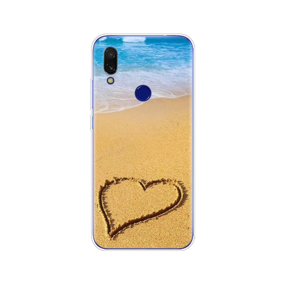 Untuk Xiomi Redmi 7 Case Coque Soft TPU Silicone Phone Cover untuk Xiaomi Redmi 7 6.26 Inch Snapdragon 632 model Bumper Hitam