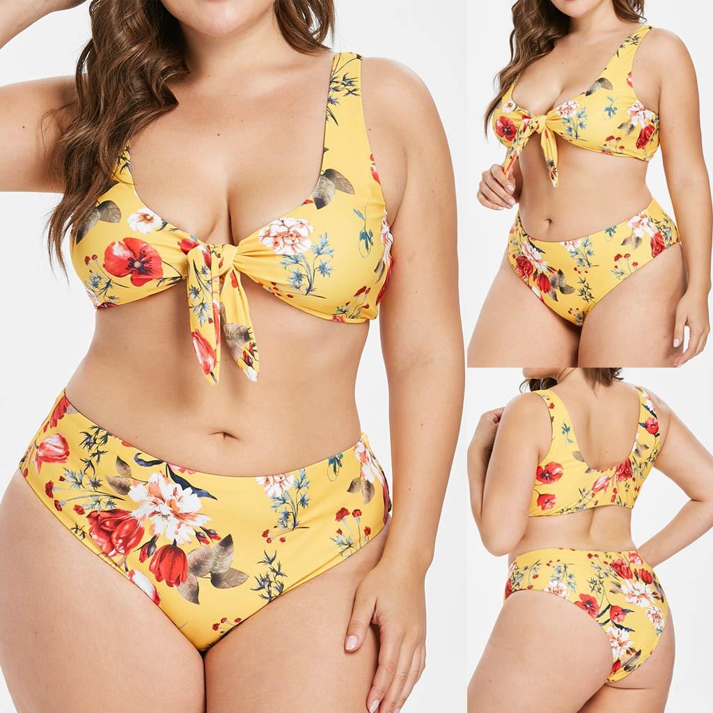 bikini mujer Women Print Push Up Padded font b Bra b font Beach Bikini Set Swimsuit