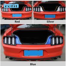 Tronco do carro guarnição caixa de cauda borda decoração adesivos para ford mustang shelby 2015 2016 2017 2018 2019 2020