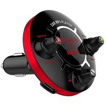 JINSERTA Mini Bluetooth MP3 Player Power ON/OFF Control FM Modulator Support Handsfree U Disk TF Card AUX Play Car Music Player