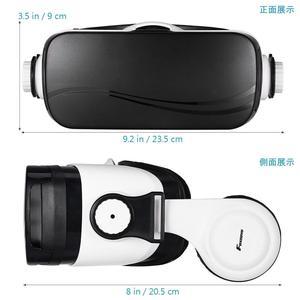 Image 4 - FOXNOVO 1 PC 3D VR 몰입 형 영화 유리 헤드셋 가상 현실 조정 가능한 게임 비디오 헤드폰 안경 고글