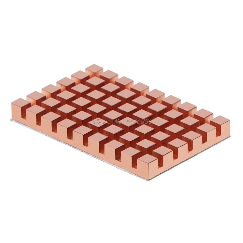 40x26MM Copper Heatsink 2/3/4MM Thermally Conductive Adhesive For MSATA NGFF 5030 Msata3.0 Solid State Disk SSD Radiator Cooler