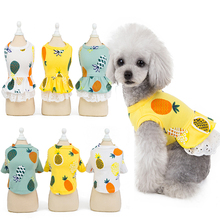Dog Dress Summer Pet Clothes Cute Fruit Printed Dresses for Small Middle Cats Puppy Skirt Vest Clothing Dropship