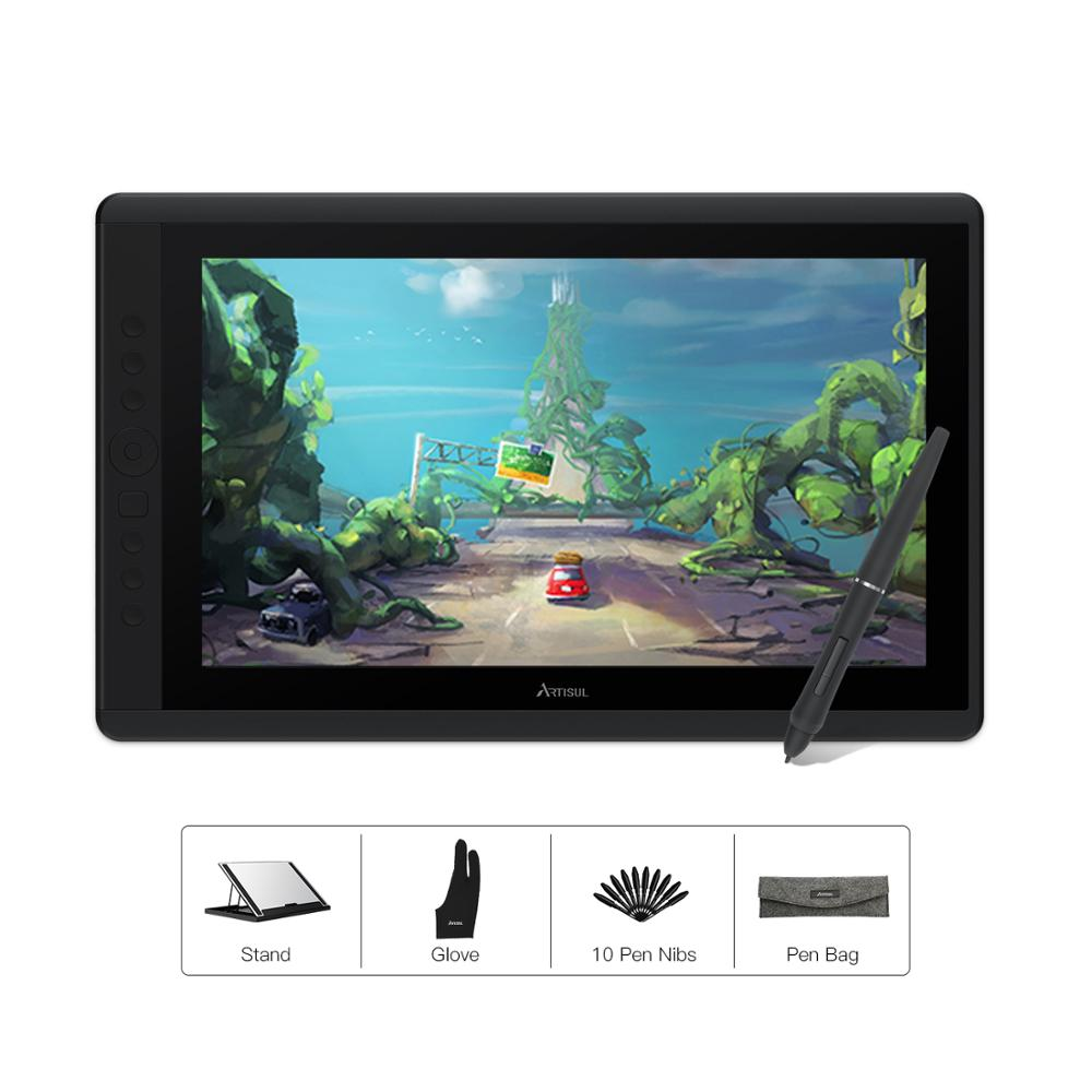 Artisul D16 15.6 Inch Graphics Tablet Battery-free Stylus 8192 Levels Digital Drawing Tablet Pen Display Monitor With Keys