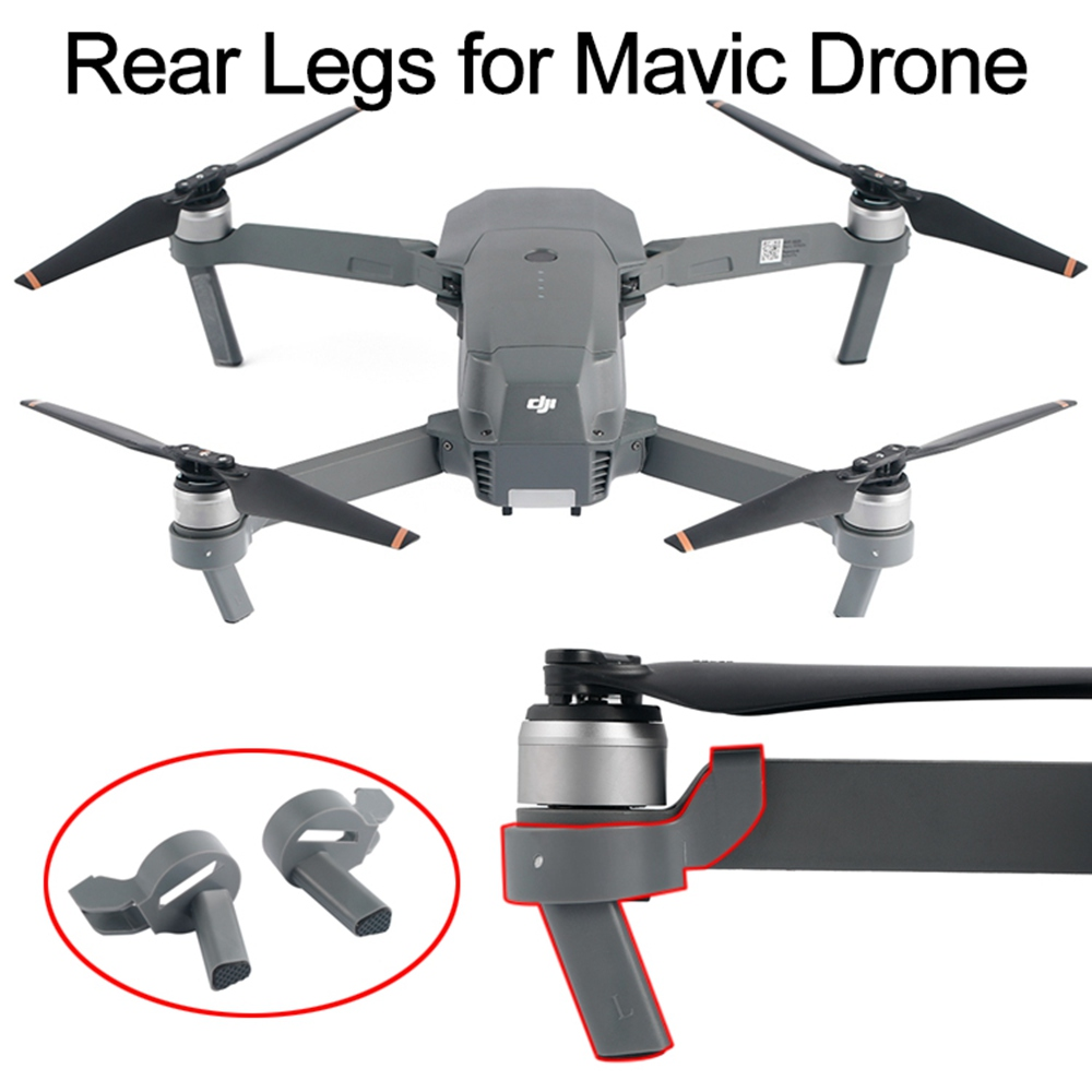 2PCS Landing Gear For DJI Mavic Pro Platinum Drone Height Extended Rear Feet Heighten Leg Stand Protector Spare Parts Accessory