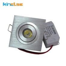 Квадратный маленький светодиодный потолочный светильник 1 Вт 3 Вт встраиваемый светильник s 110 В 220 В регулируемый светодиодный потолочный светильник Домашнее Внутреннее освещение