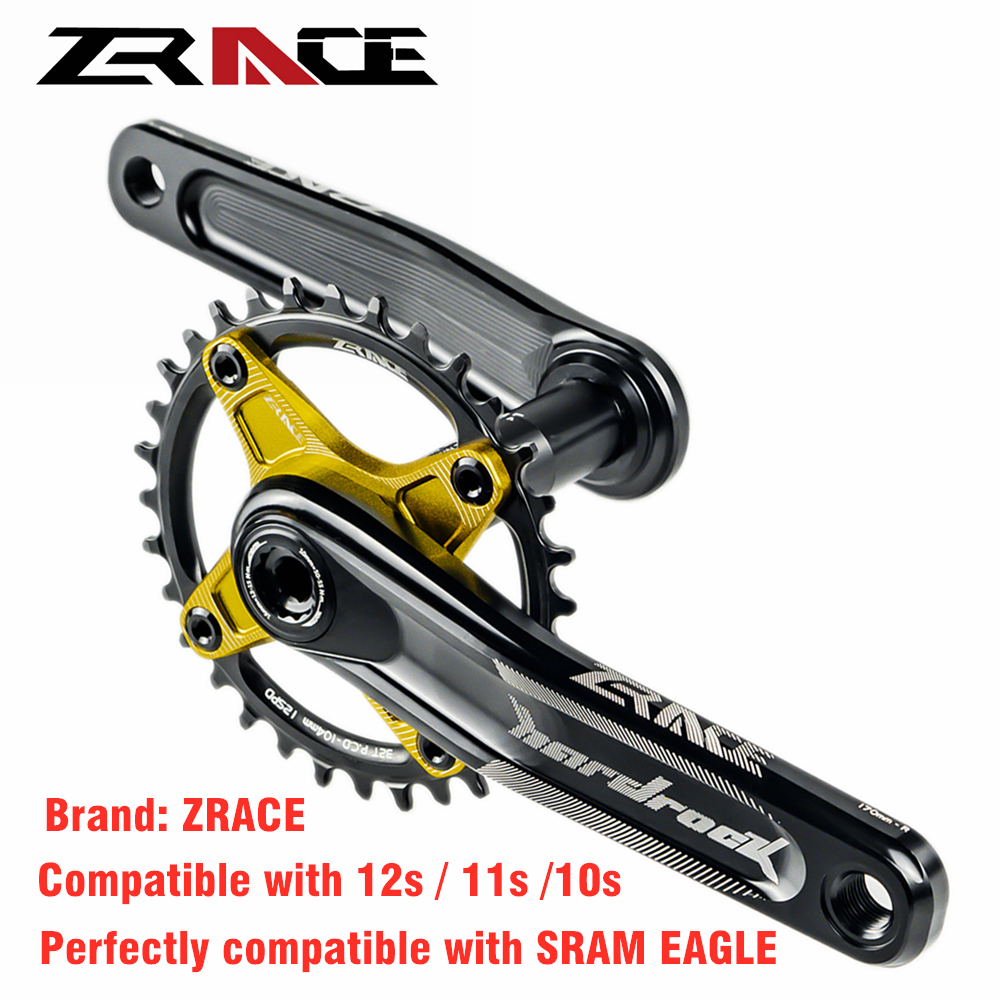 ZRACE HARDROCK 10s 11s 12s Speed Bicycle Crankset With Bottom Bracket for MTB Bike 170mm/175mm 32T/34T/36T Chainset SRAM EAGLE image