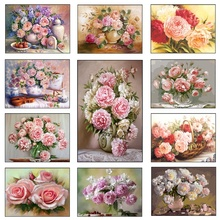 Rose Flower Diamond Painting Kit 5D Embroidery Dots Mosaic