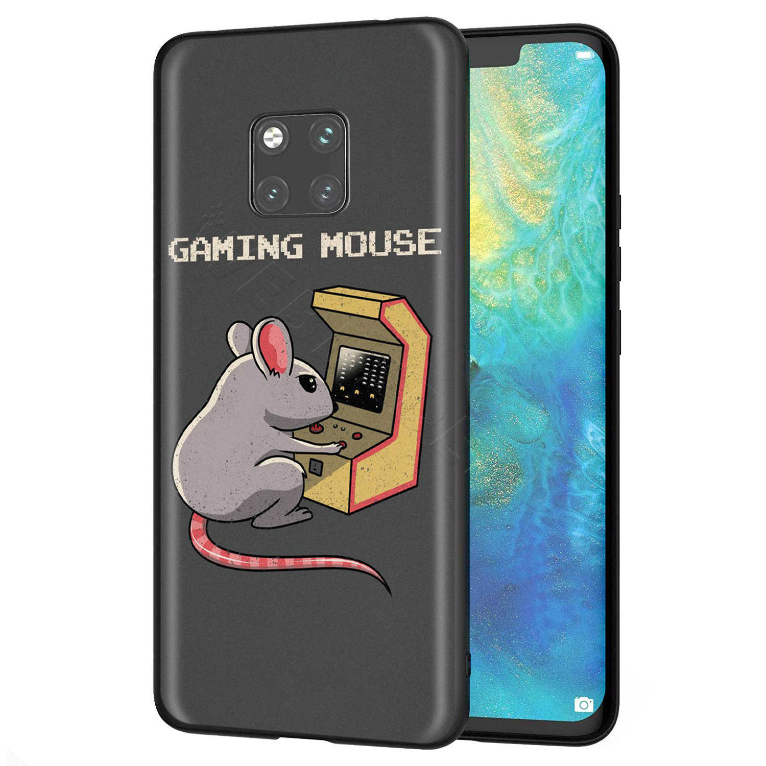 Webbedepp Cute Mouse Case for Huawei Honor 6A 7A 7C 7X 8 8X 8C 9 9X 10 20 Lite Pro Note View