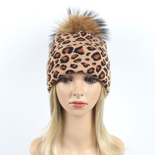 Winter Hat For Women Men SexyLeopard Crochet Knitted Hat Warm Cap Leopard wool Women's Winter Hat Girl Pom Pom Ball Hat cap цены