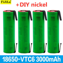 Batterie Li-ion Rechargeable VTC6, 100% V, 3.7 mAh, 3000, feuilles de Nickel, bricolage, nouveauté 18650