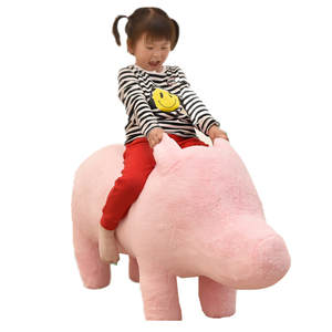 Chair 4-Models 110cm Toy Sofa Pig Swine Plush-Pig Panda Can-Be-Rode Stuffed Elephant