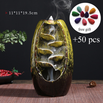 Incense waterfall and incense cone burner