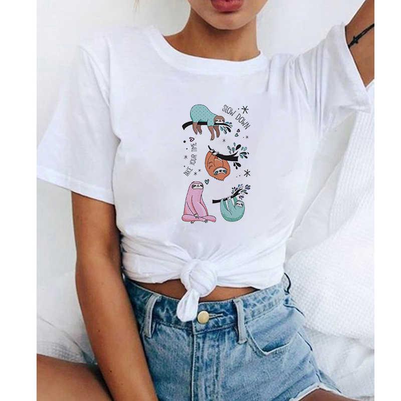 Lus Los drôle Snooze paresseux paresseux femmes T-shirt nouveau paresseux Animal coupe haut ample mignon dessin animé T-shirt d'été T-shirt