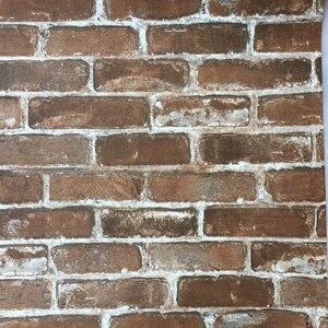 Image 5 - Рулон 3D искусственной кирпичной стены, рулон виниловой бумаги в стиле ретро, индастриал, лофт, красная, черная, серая, желтая, моющаяся