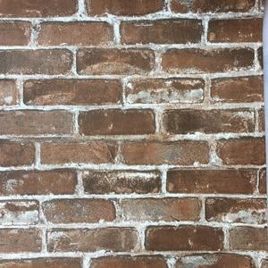 Image 5 - Rustic Vintage 3D Faux Brick Wallpaper Roll Vinyl PVC Retro Industrial Loft Wall Paper Red Black Grey Yellow Washable