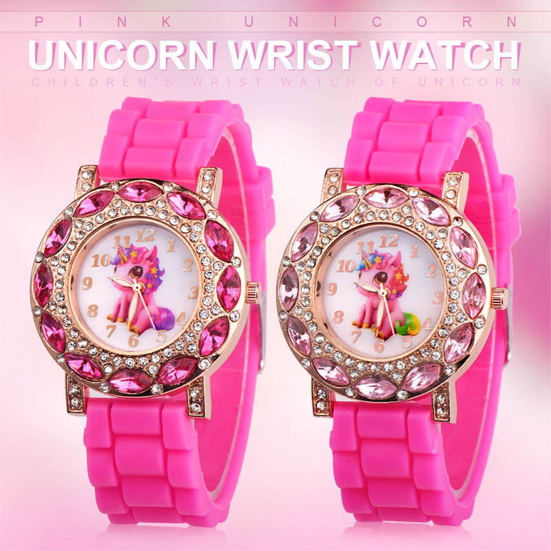 UTHAI CQ19 Children watch Quartz Wrist watches for Girls Cartoon Beast horse Kids Child