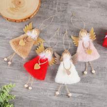 Merry Christmas Elf Angel Pendant Pink Decoration Cristmas Decorations for Home Gift Mery 2020 New Year sylwester bombki white(China)