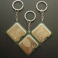 DIY Laser Engraving CPU Keychain Pattern Customized Personalized Creative Pendant for Science