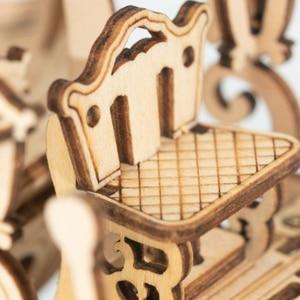 Image 5 - Robotime جديد وصول 182 قطعة DIY المنقولة 3D خشبية اليقطين عربة بناء نموذج كيت لعبة هدية للأطفال صديق TG302